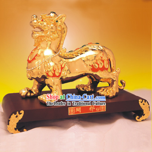 China Classic Gold Statue-Bi Xie_Avoid Evil_