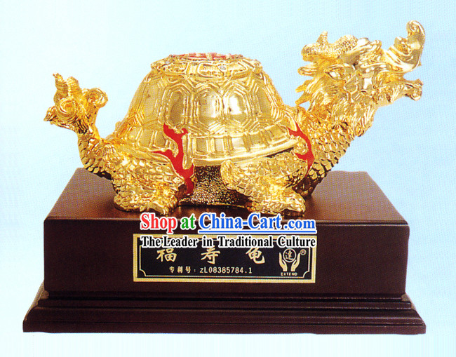 China Classic Gold Longevity and Good Fortune Tortoise