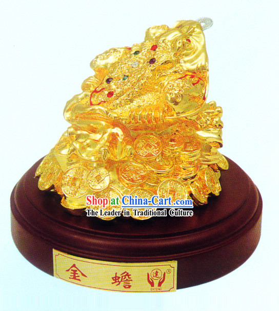 China Classic Gold Toad Bringing Treasures and Fortunes