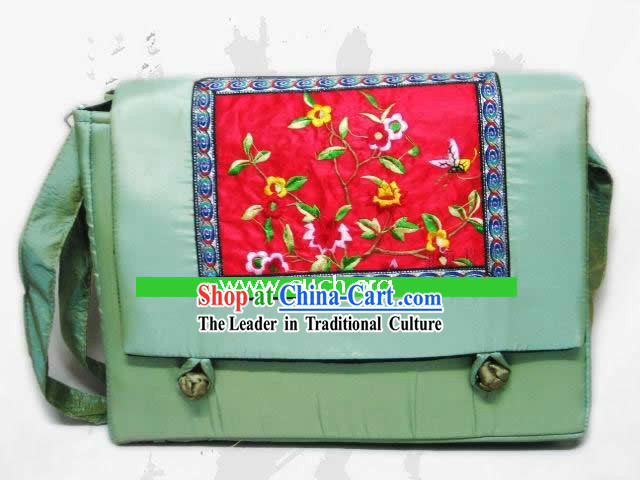Chinese Classic Handmade Embroidery Silk Bag