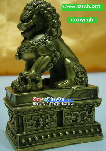 Chinese Traditional Bronze Lion King