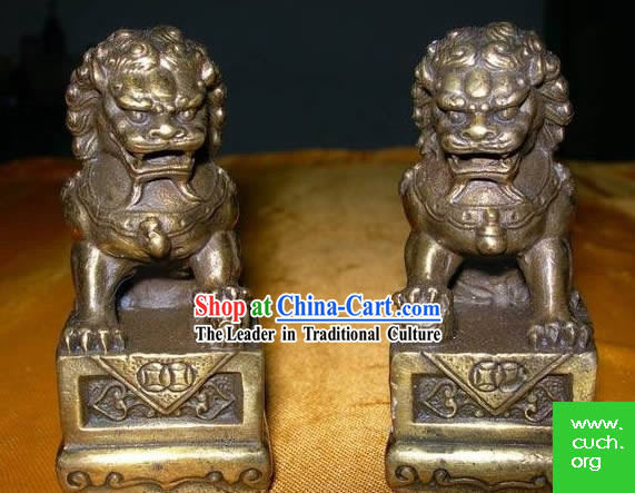 Chinese Classic Brass Lion King
