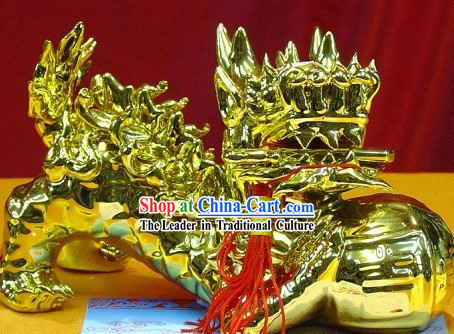 Chinese Stunning Golden Lion King