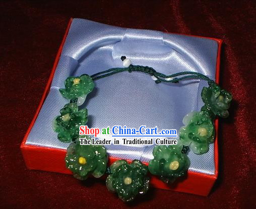 Chinese Ancient Style Coloured Glaze Flower Bracelet