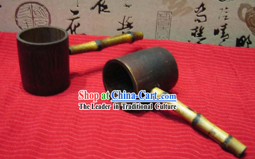 Chinese Hand Made Wooden Water Ladle