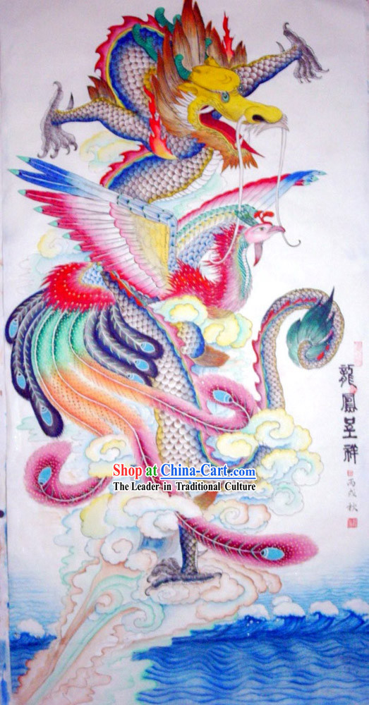 Chinese Traditional Painting with Meticulous Detail-Dragon Emperor