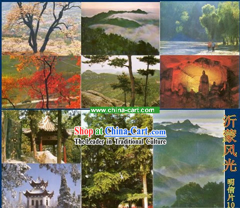 China Classic Yi Meng Scene Postcards Set (10 Pieces)