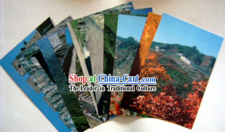 China Classic Great Wall Scene Postcards Set (10 Pieces)