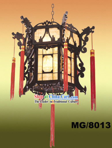 Hand Made Chinese Classical Antique Dragons Palace Ceiling Lantern