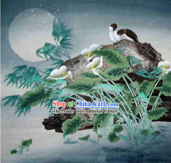 Traditional Chinese Painting by Li Xing-Under the Moon