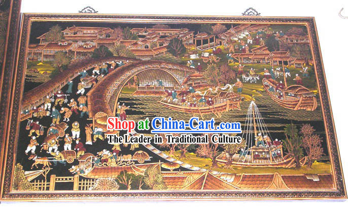 Chinese Classic Wood Works-Qing Ming Shang He Tu