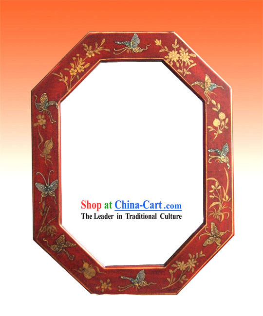 Chinese Ancient Palace Lucky Red Mirror