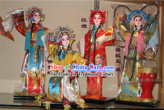 Chinese Classic Silk Figurines/Statues Opera Beauties Collection 24 Pieces Set