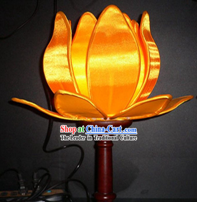 Chinese Hand Made Silk Palace Lotus Lamp _Lantern_