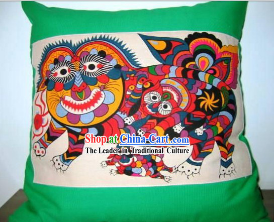 Chinese Classical Fok Cushion-Tiger King