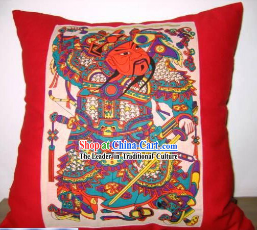 Chinese Classical Fok Cushion-Door God
