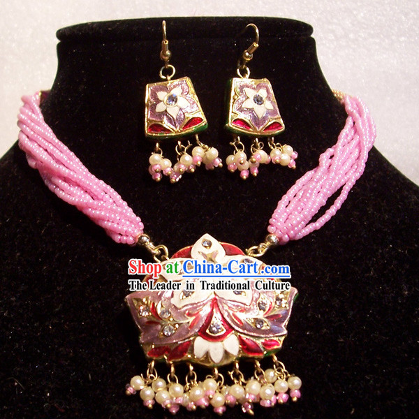 Indian Fashion Jewelry Suit-Pink Lady