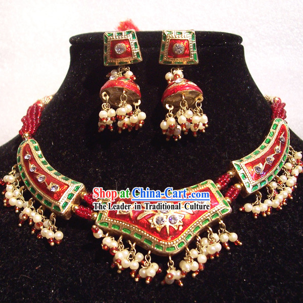 Indian Fashion Jewelry Suit-Lucky Red Baby