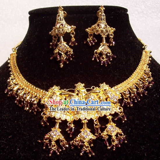 Indian Fashion Jewelry Suit-Golden Beauty