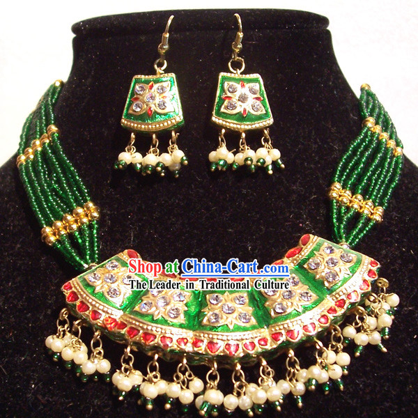 Indian Fashion Jewelry Suit-Green Prince of the Blood