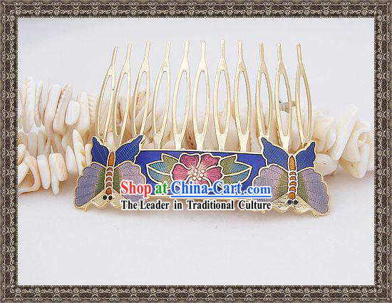 Chinese Cloisonne Brooch Classics Hairpin