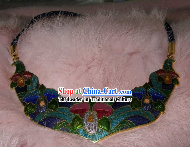 Chinese Stunning Cloisonne Necklace