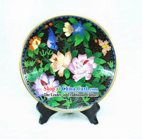Chinese Cloisonne Flower Plate