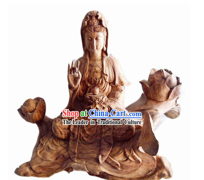 Chinese Root Carving Statue-Kwan-yin