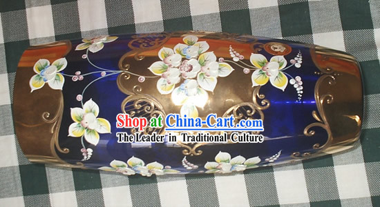 Chinese Hand Painted Flowery Vase