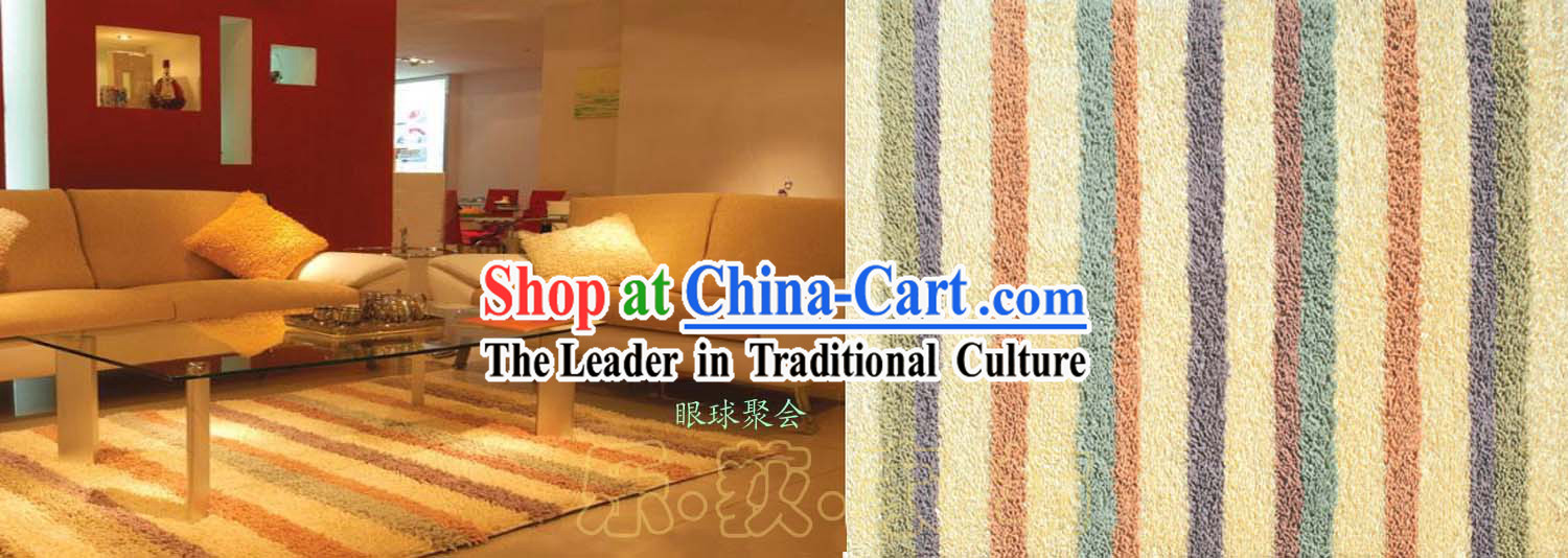 Art Decoration Chinese Rainbow Rug _70_140cm_