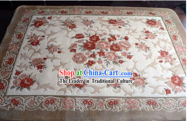 Art Decoration Chinese Classical Flowery Rug _185_185cm_