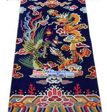 Art Decoration Chinese Hand Made Wool Dragon and Phoenix Rug_180_93cm_