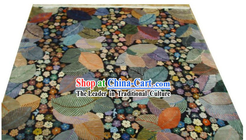Art Decoration Chinese Hand Made Thick Natural Silk Rug_180_180cm_