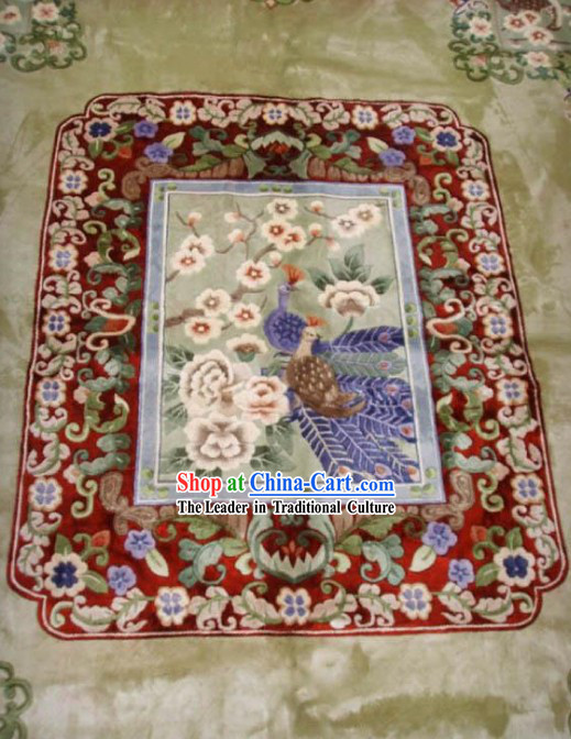 Art Decoration Chinese Large Hand Made Thick Natural Silk Rug_250_305cm_