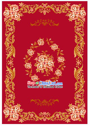 Art Decoration China Tibetan Large Hand Made Wool Rug (120*300cm)