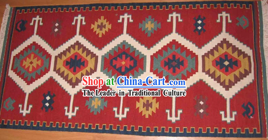 Art Decoration China Tibetan Large Hand Made Wool Rug _60_120cm_