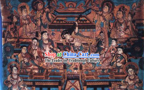 Art Decoration Chinese Hand Made Thick Silk Arras_Tapestry _134_91.5cm_