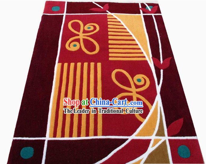 Art Decoration Chinese Hand Made Butterfly Carpet _90cm_150cm_