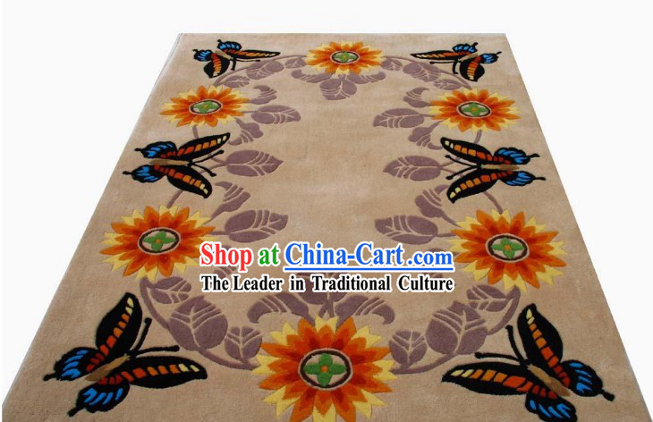 Art Decoration Chinese Hand Made Butterfly Carpet _120cm_180cm_