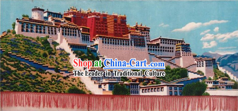 Art Decoration Chinese Hand Made Large Tapestry_Carpet-the Potala Palace _137cm_279cm_