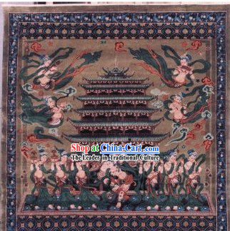 Art Decoration Chinese Hand Made Thick Silk Arras_Tapestry _150_94cm_