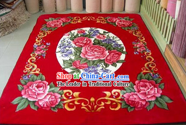Art Decoration Chinese Lucky Red Wedding Carpet _173_230cm_