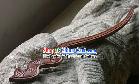 Hand Carved Chinese Traditional Walnut Hair Pin _Hairpin_- Years