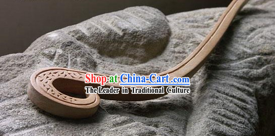 Hand Carved Chinese Traditional Walnut Hair Pin _Hairpin_- Born