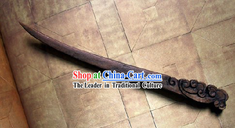Hand Carved Chinese Traditional Walnut Hair Pin _Hairpin_- Cloud