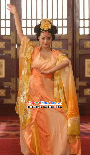 Chinese Made to Order Ancient Tang Dynasty Beauty Yang Yuhuan Costumes Set
