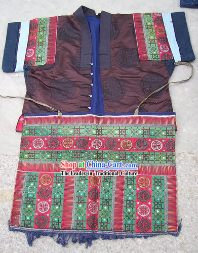 Chinese Stunning Miao Tribe Hand Embroidery Collectible-Prosperous Jacket