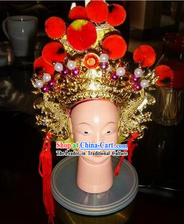Chinese Ancient Puppet General Helmet for Performance