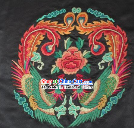 Chinese Hand Embroidered Handicraft-Double Phoenix