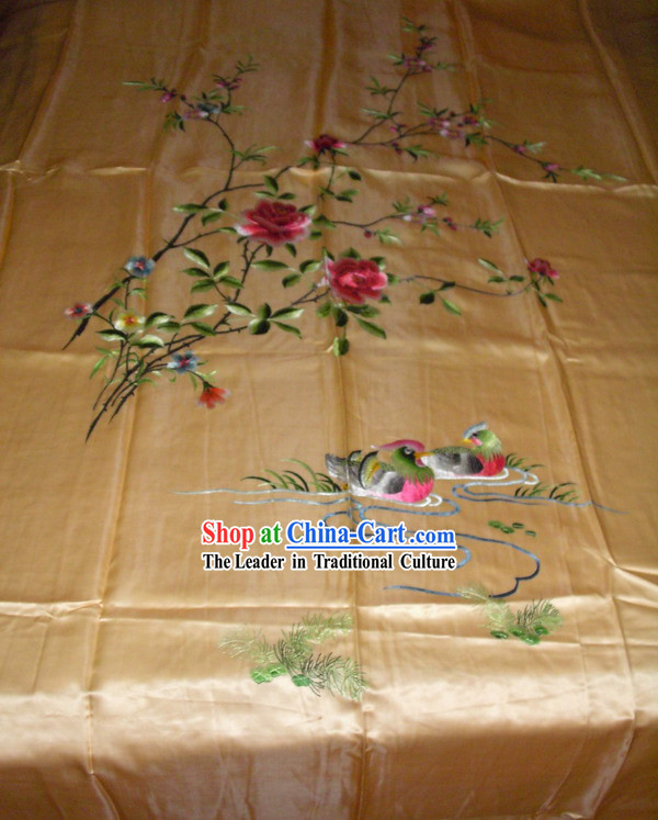 Chinese Hand Embroidery Bedcover-Lucky Dragon